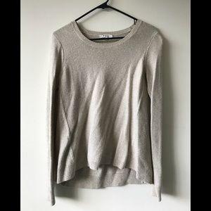 Madewell Hi-Lo Beige Sweater